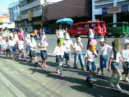 SunBox: Nutrition Month Food Mask Parade