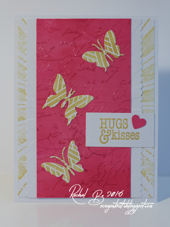 Scrapatout - Handmade card, Impression Obsession, Butterflies, Hugs