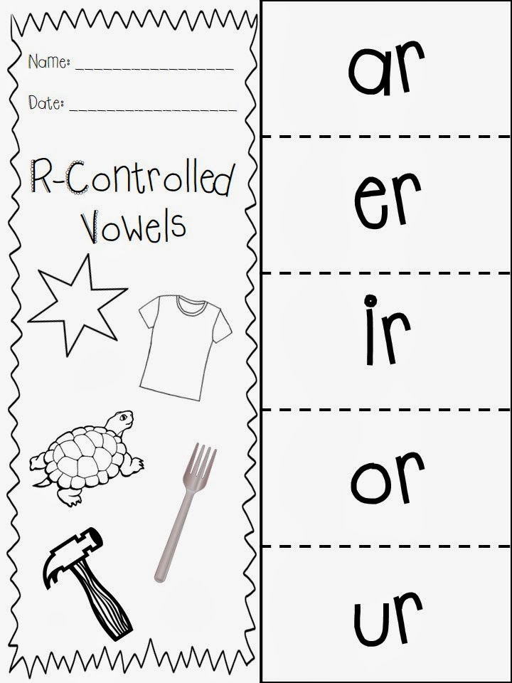 The Very Busy First Graders 120th Day of School and RControlled – R Controlled Vowels Worksheets