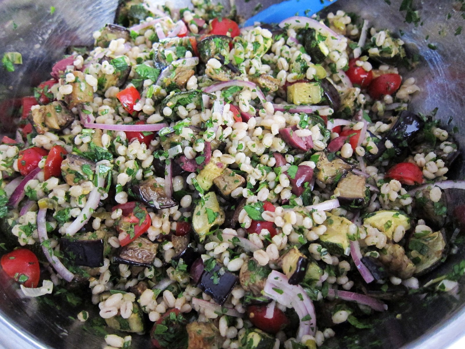 Mediterranean Eggplant And Barley Salad Recipe — Dishmaps