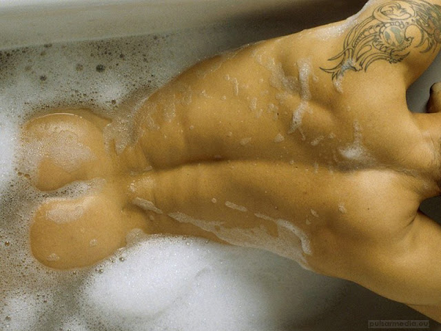 Sexy Male Butt With Tattoo, Hot Male Ass With Tattoo in the Water