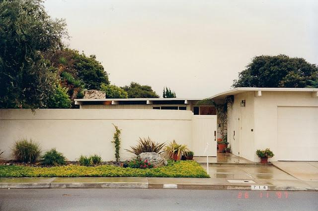 mid-century modern home Irvine Terrace, Corona del Mar,  CA