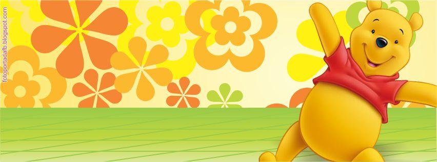 Portada para facebook con el tema de winnie pooh