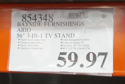 Deal for the Bayside Furnishings Ario 3-in-1 TV Stand at Costco