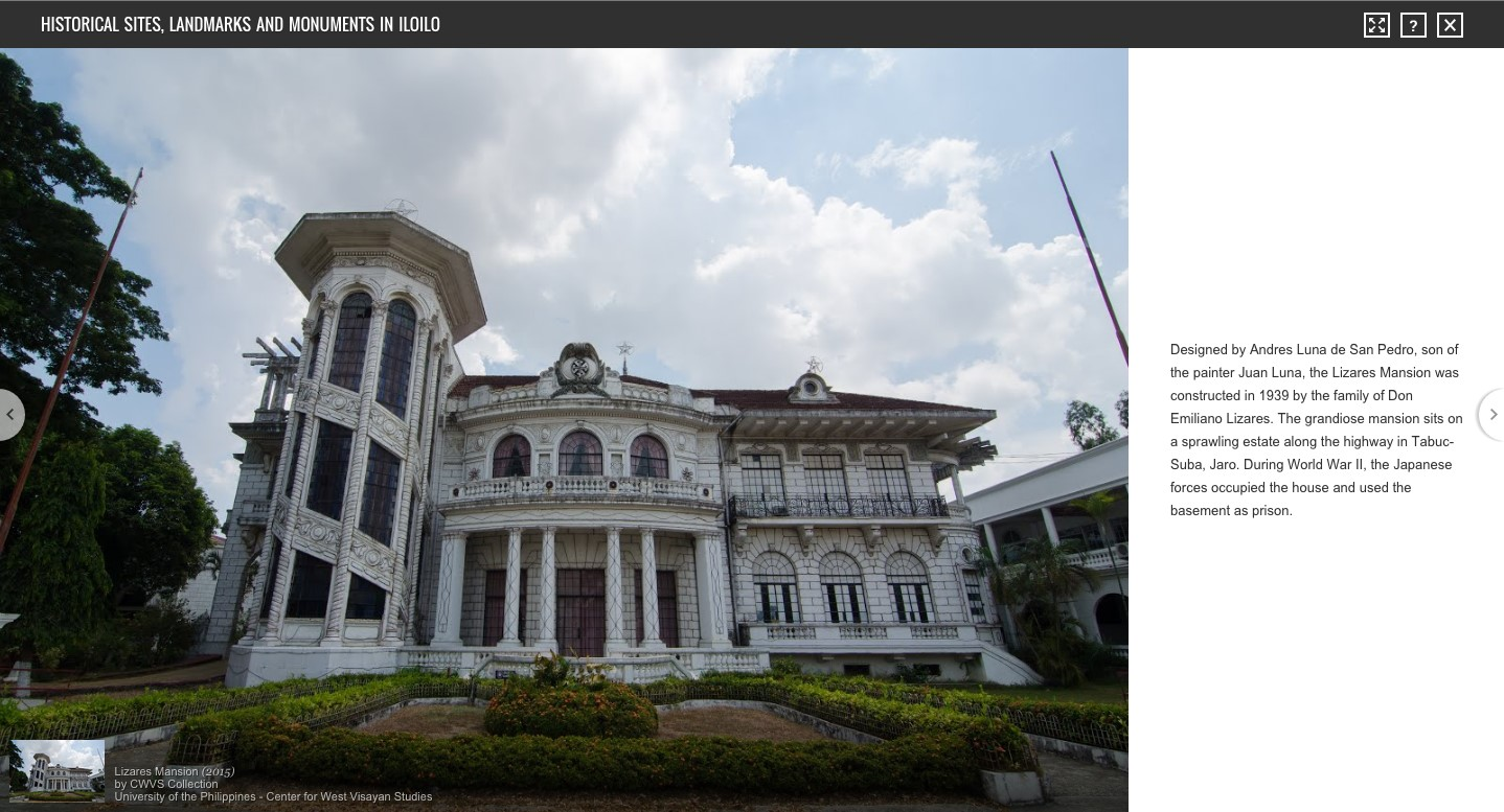 Lizares Mansion (2015), CWVS Collection, University of the Philippines - Center for West Visayan Studies