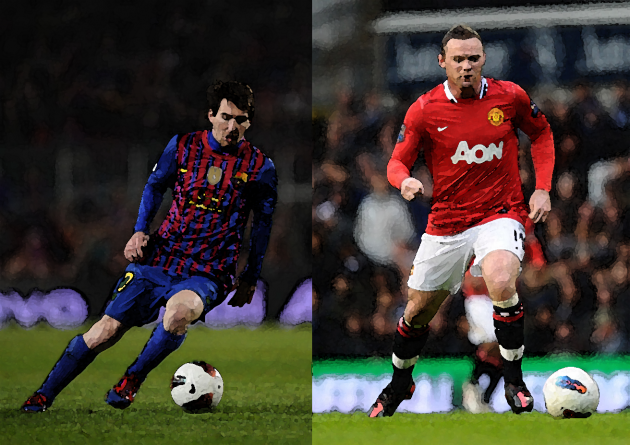Wayne Rooney Vs Messi