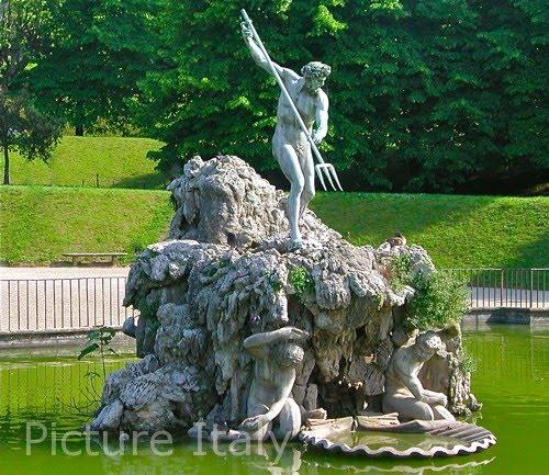 neptune fountain boboli gardens florence