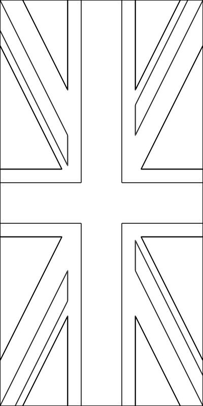 colorear bandera del Reino Unido para imprimir