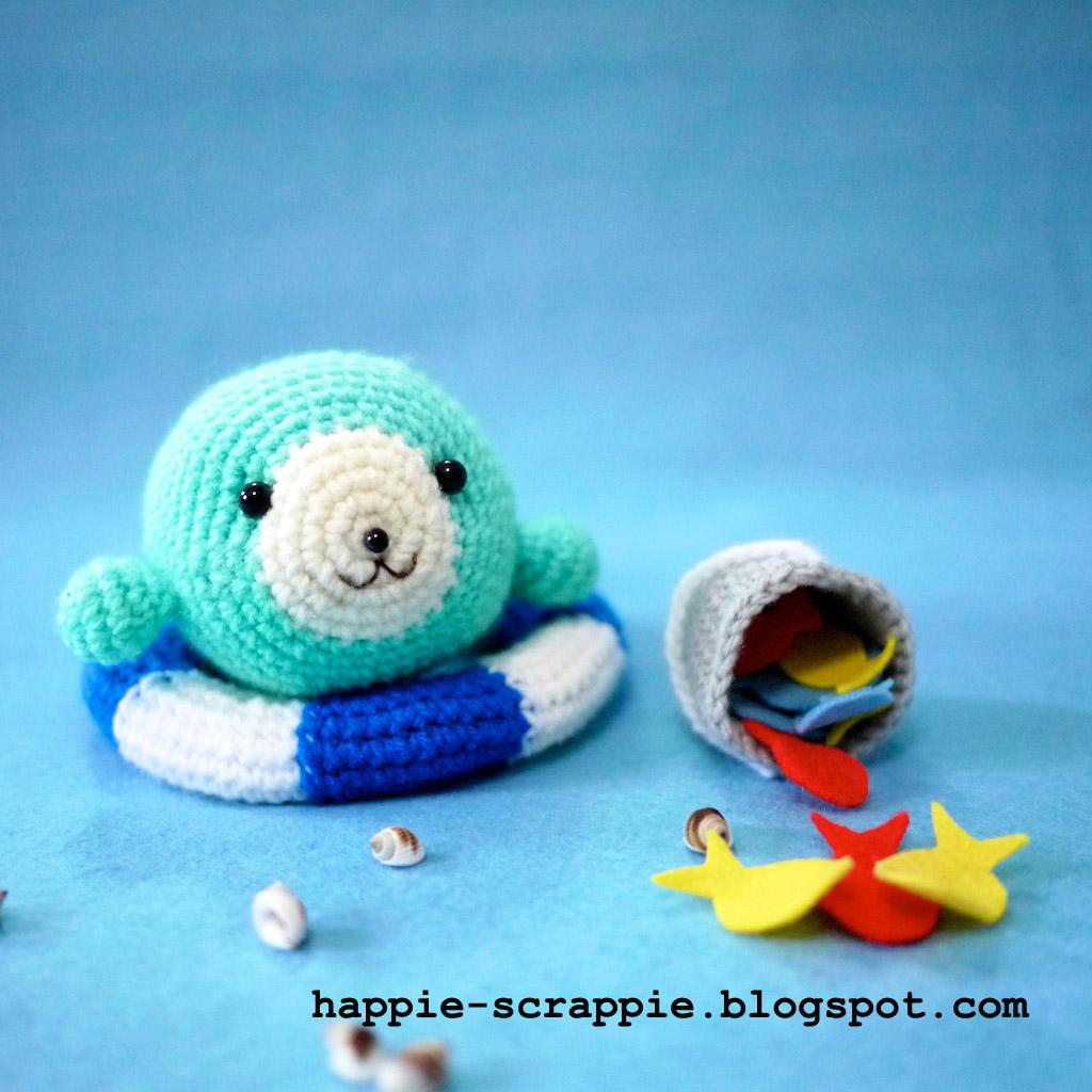 Amigurumi Seal Pattern : Happiness is Scrappy: Amigurumi Pattern: Baby Seal Learns ...