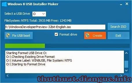 Phần mềm tạo boot USB windows 8 cài đặt windows 8 bằng usb