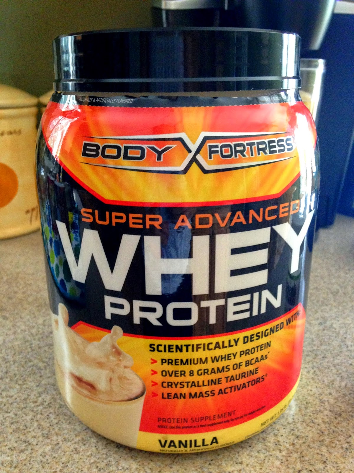 Body Fortress Super Advanced Vanilla Whey Protein on Hungry Gator Gal