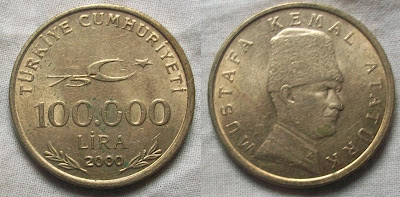turkey 100000 lira 2000