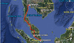 Leg 1 Singapore to Bangkok 25/01/2011 to 22/01/2011