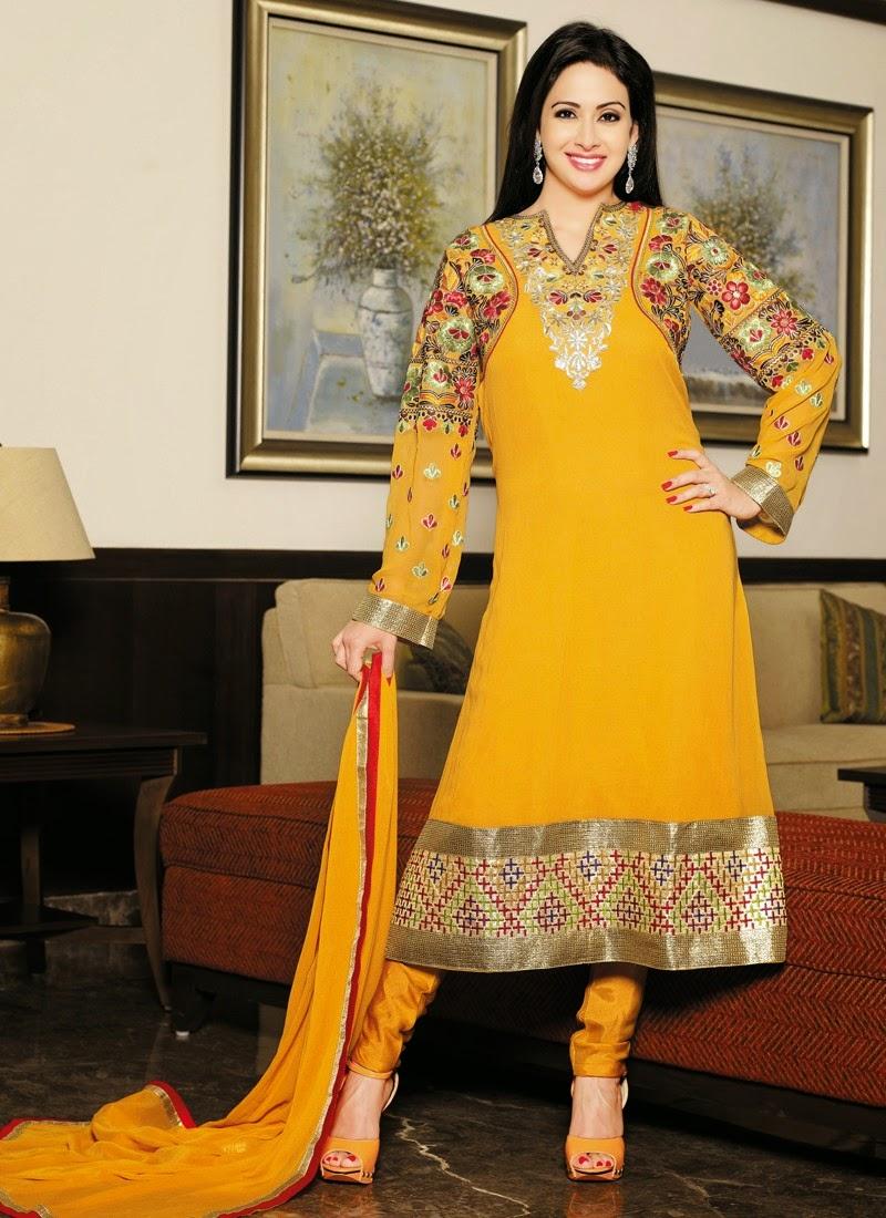 Preeti Jhangiani Anarkali Suit And Salwar Kameez Suit Wallpapers Free Download