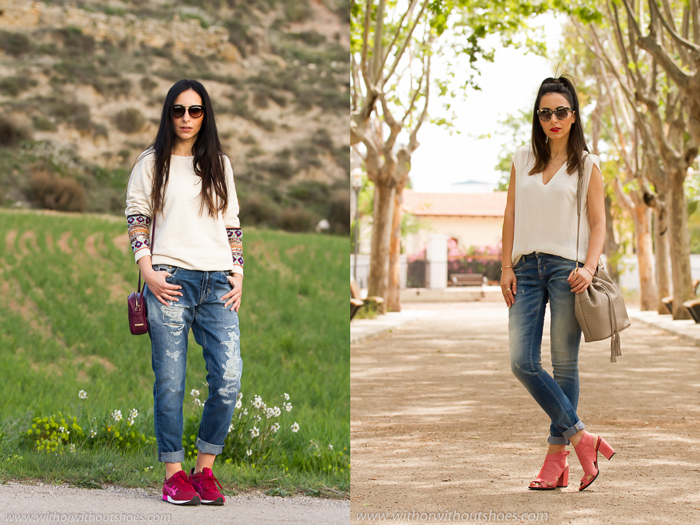 Looks casual chic de la blogger valenciana withorwithoutshoes