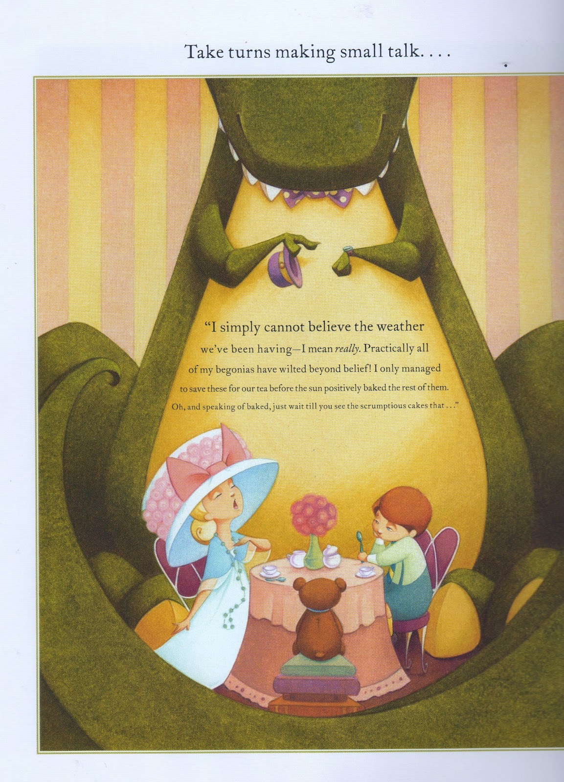 a child s garden of books tea rex by molly idle