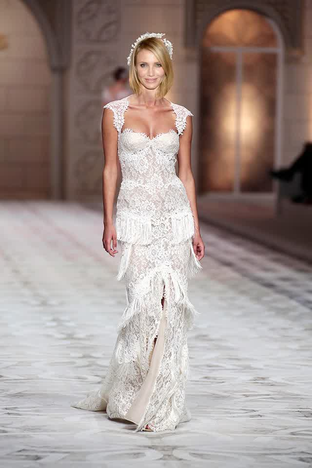 Will This Become Cameron Diaz Wedding Gowns Bridal Trend