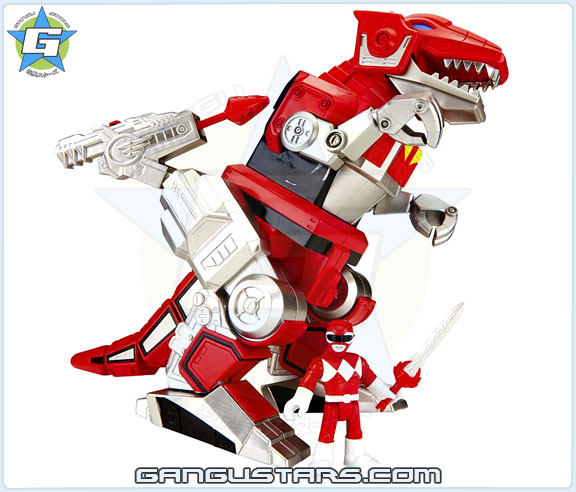Imaginext Mighty Morphin Power Rangers Battle Assortment Red Ranger T-Rex DinoZord イマジネックスト ジュウレンジャー