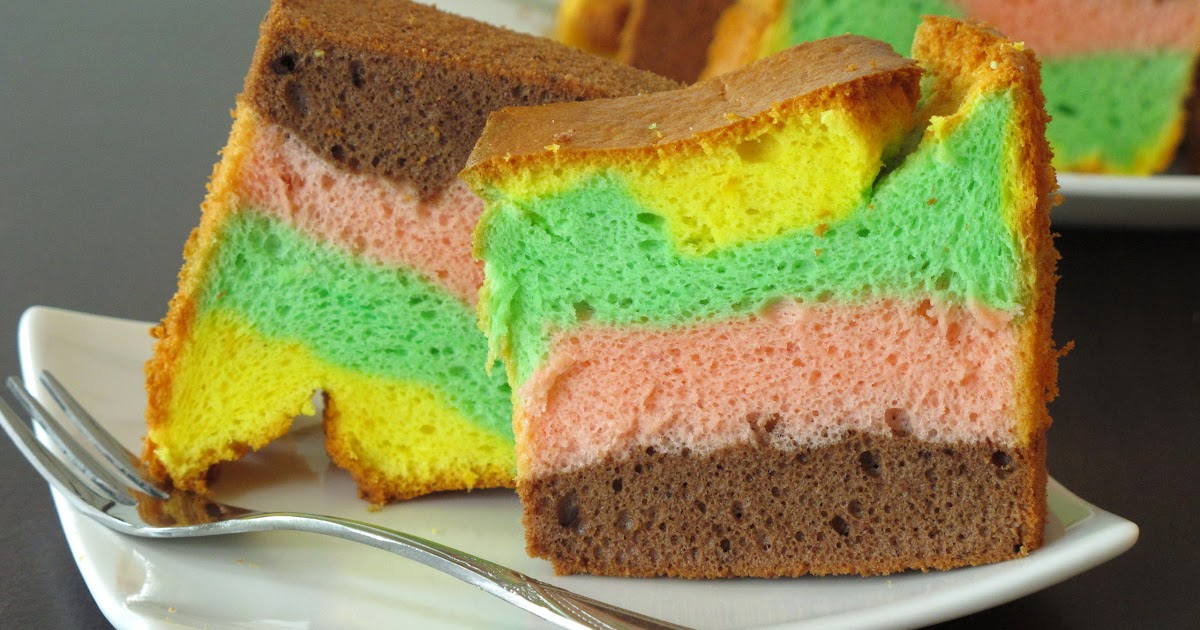 Rainbow Chiffon Cake Hawaii