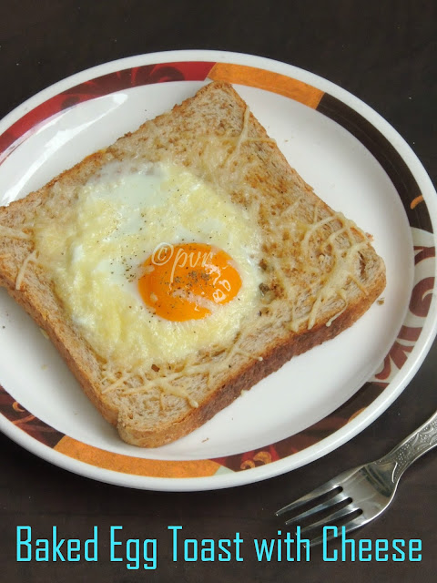 Baked egg toast with cheese