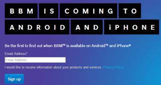 BBM untuk Android dan iPhone