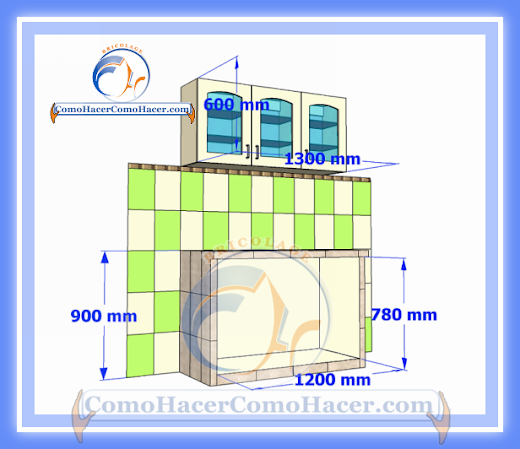 Cocina mesada de concreto gu a detallada para colocar - Altura de muebles de cocina ...