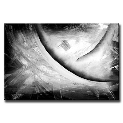 Abstract art modern painting techniques by dranitsin for Black and white acrylic painting techniques