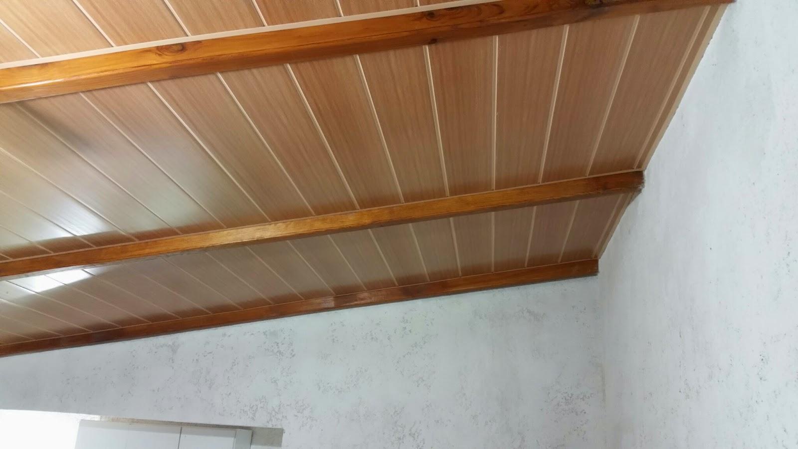Cielorrasos en pvc uruguay cielo raso de pvc color en - Pvc imitacion madera ...