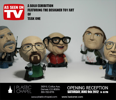 """As Seen On TV"" Solo Custom Art Show by Task One"