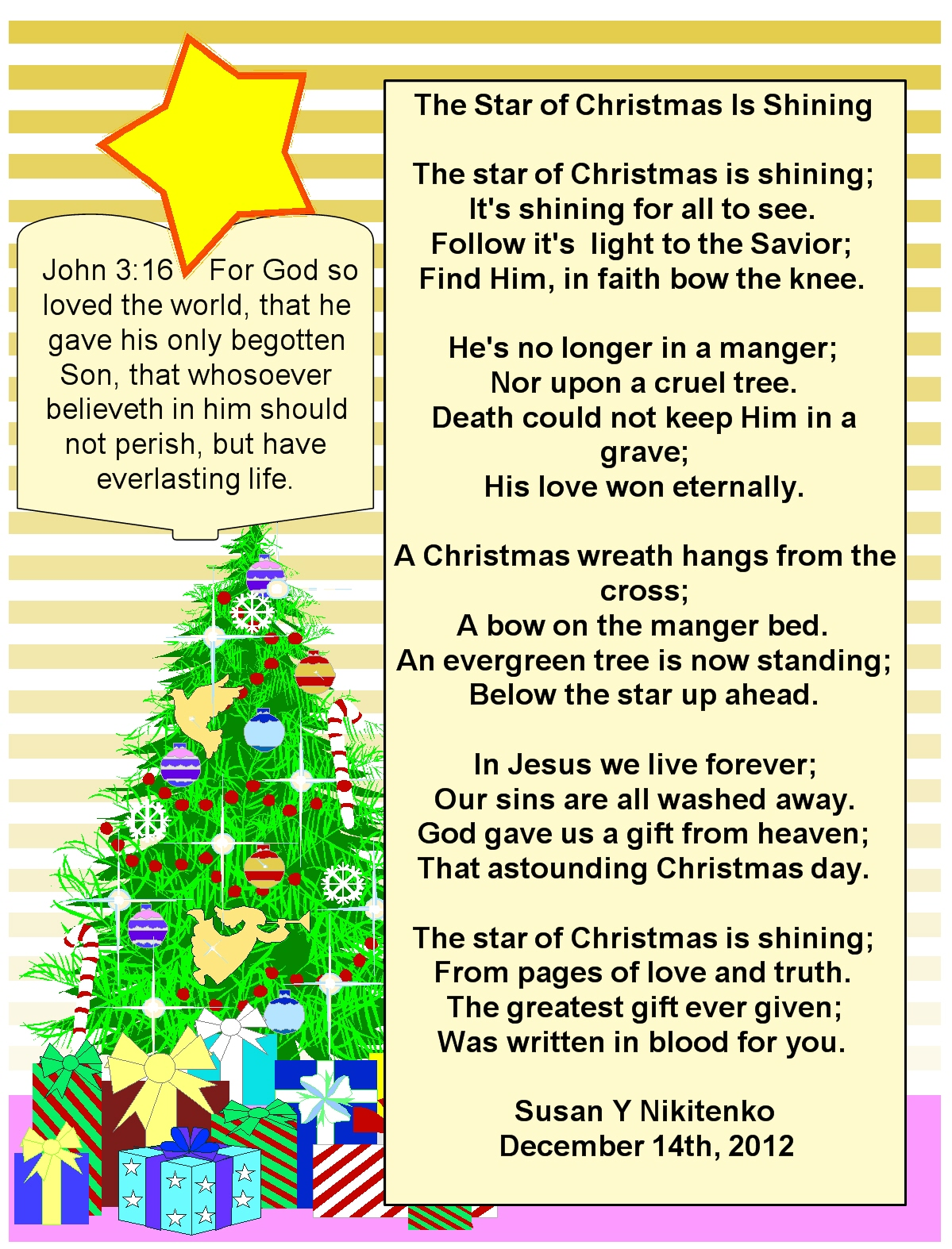 Religious Poems For Christmas