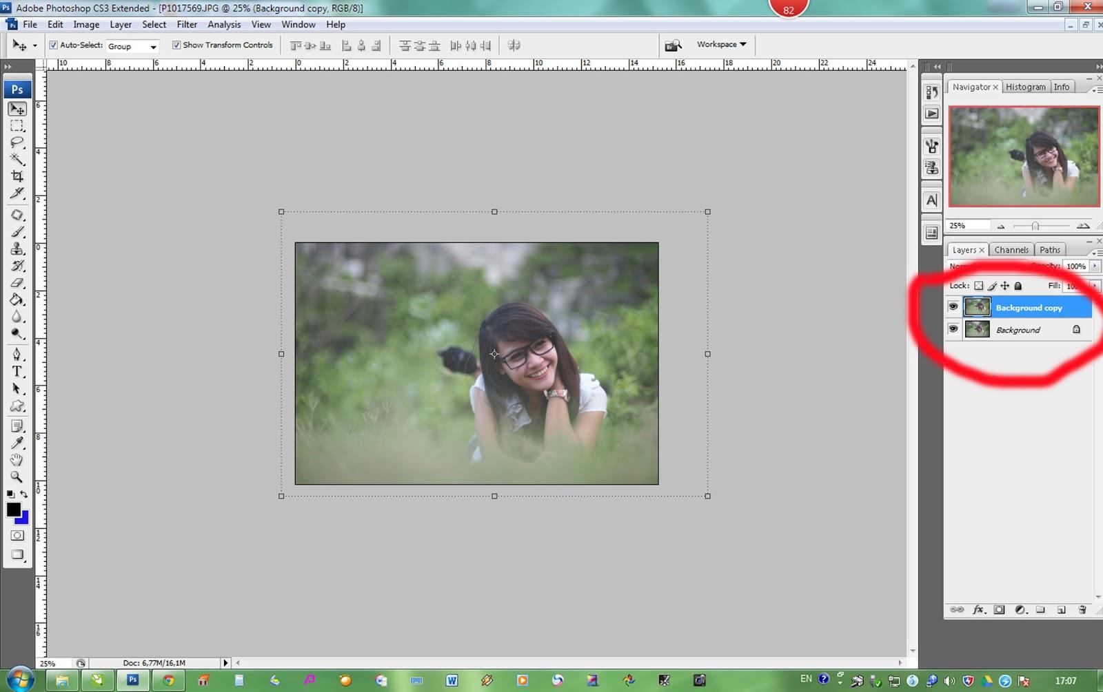 Cara merubah warna background pas foto dengan photoshop cs4 12