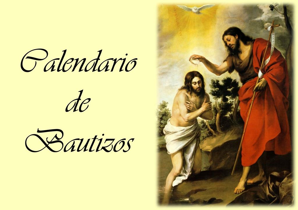 Calendario de Bautizos