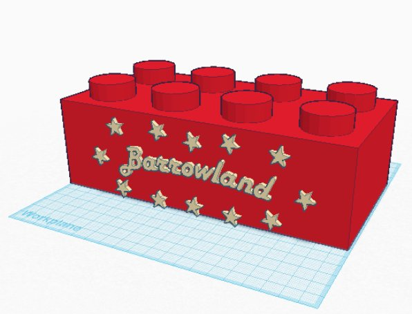 Barrowland Ballroom Sign STL lego