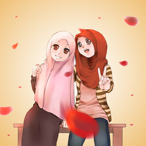 gambar Muslimah kartun imut