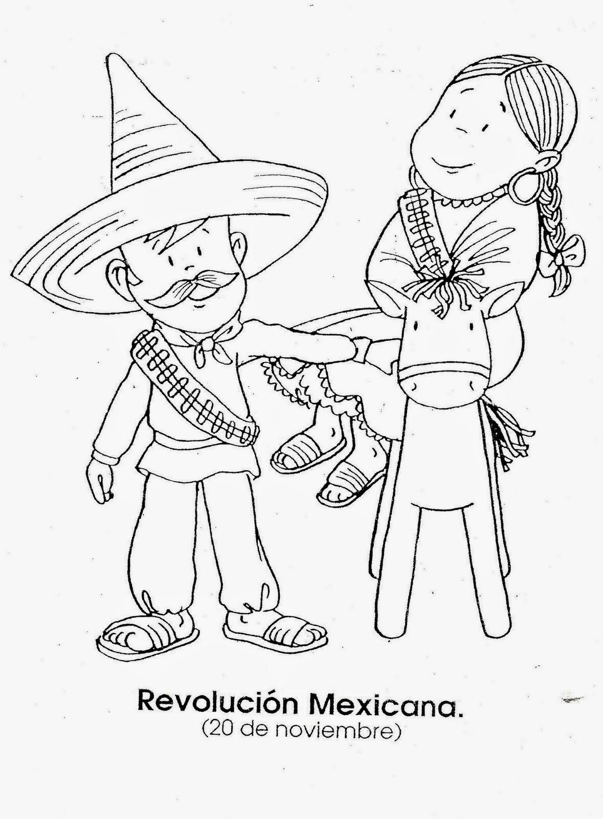 Imágenes para colorear , Revolución Mexicana