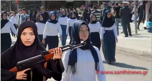 Ξάνθη: Παρέλαση μόνο με μαντίλες για πρώτη φορά σε εθνική εορτή
