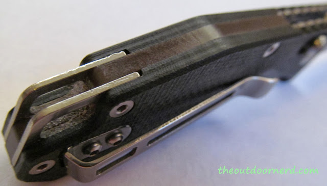 SanRenMu GB-763 Pocket Knife - Handle Closeup 4