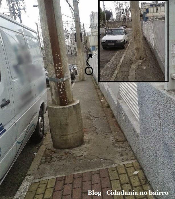 Falta de acessibilidade nas ruas do bairro