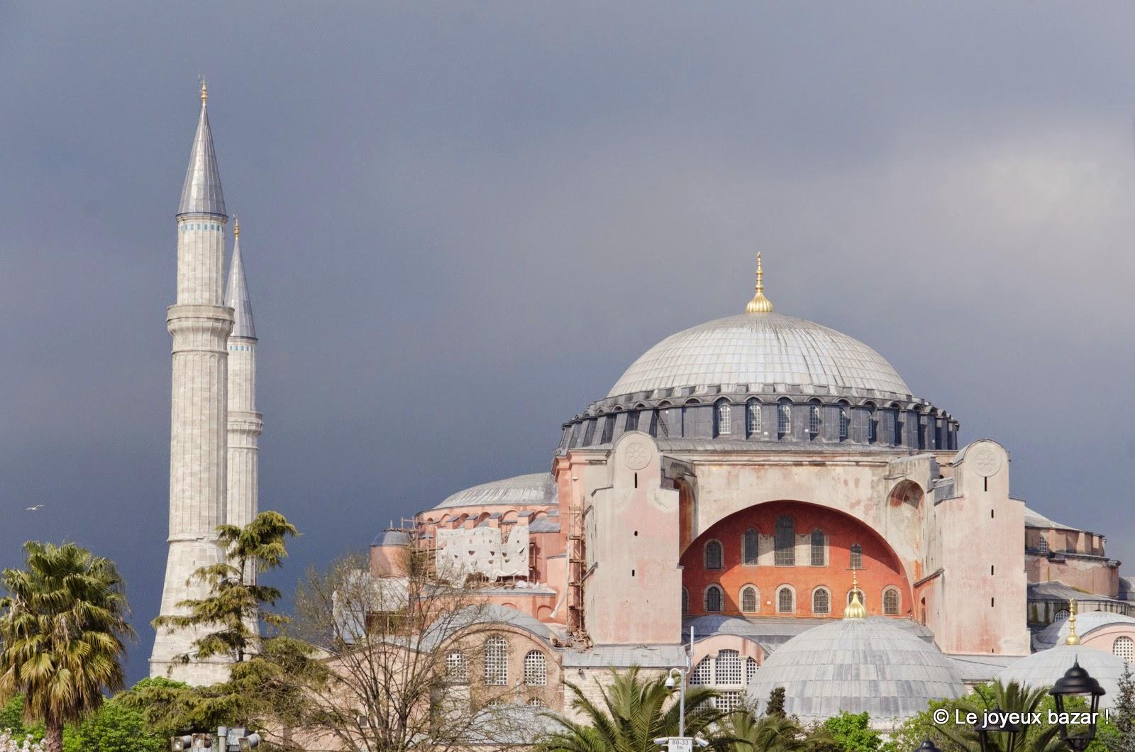 Istanbul - Sainte Sophie et ciel gris