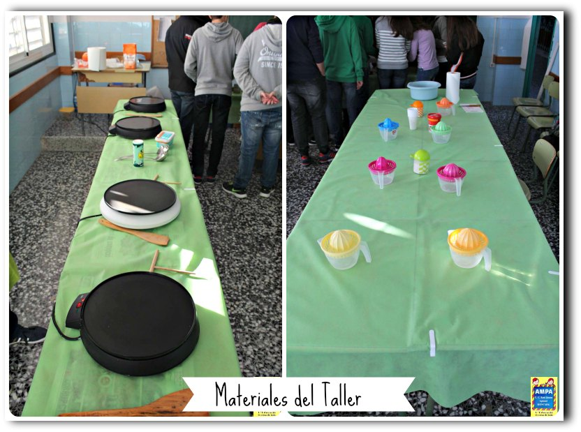 kukibox - Taller de cocina Materiales