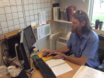 Todd Jinkins, Assistant Base Manager with the Great Basin Smokejumpers, in his Boise, Idaho office.