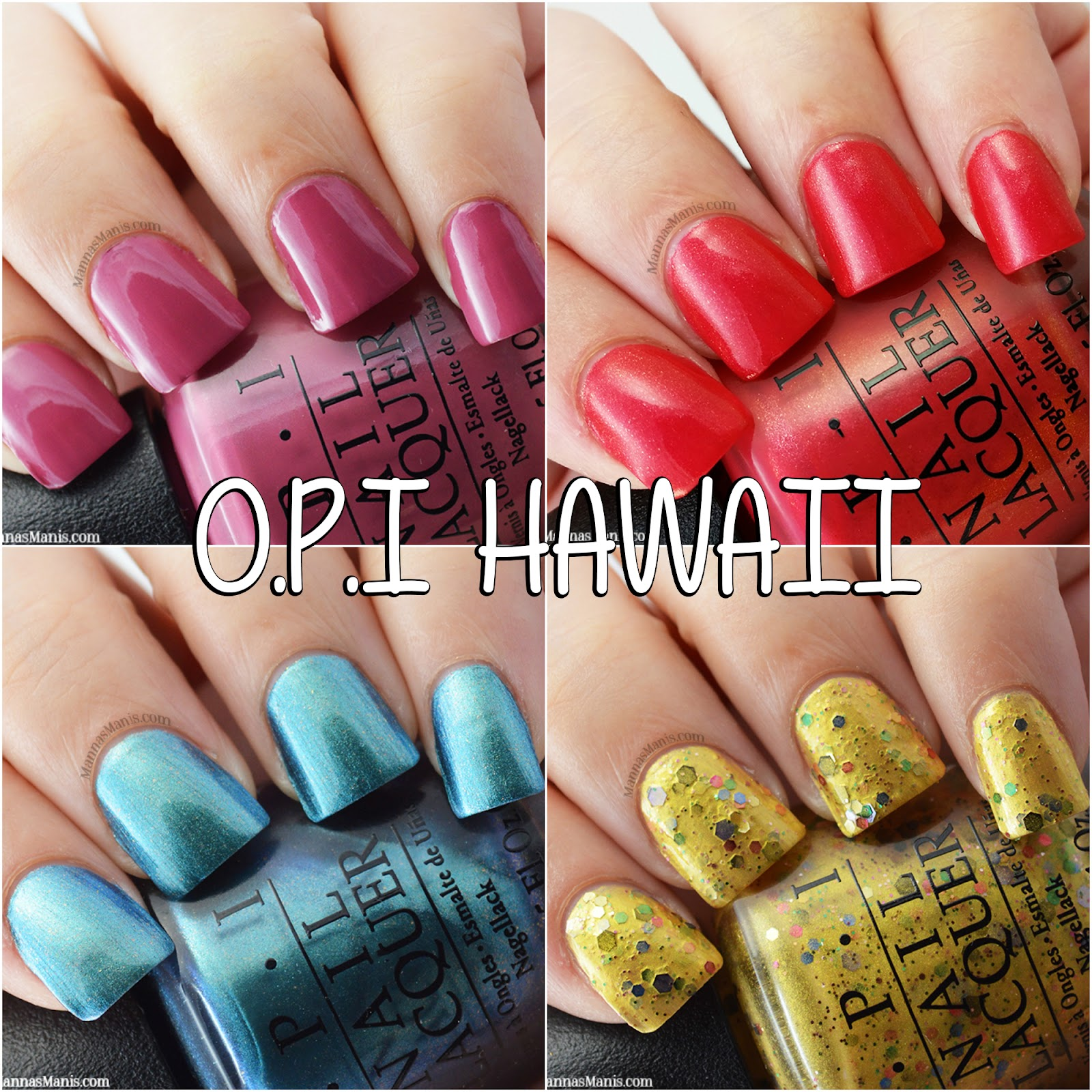 OPI Hawaii Collection swatches