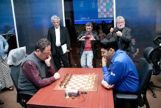 Echecs à Moscou : Boris Gelfand face à Vishy Anand - Photo © http://moscow2012.fide.com