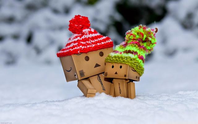 Hình nền danbo lãng mạn trong tuyết