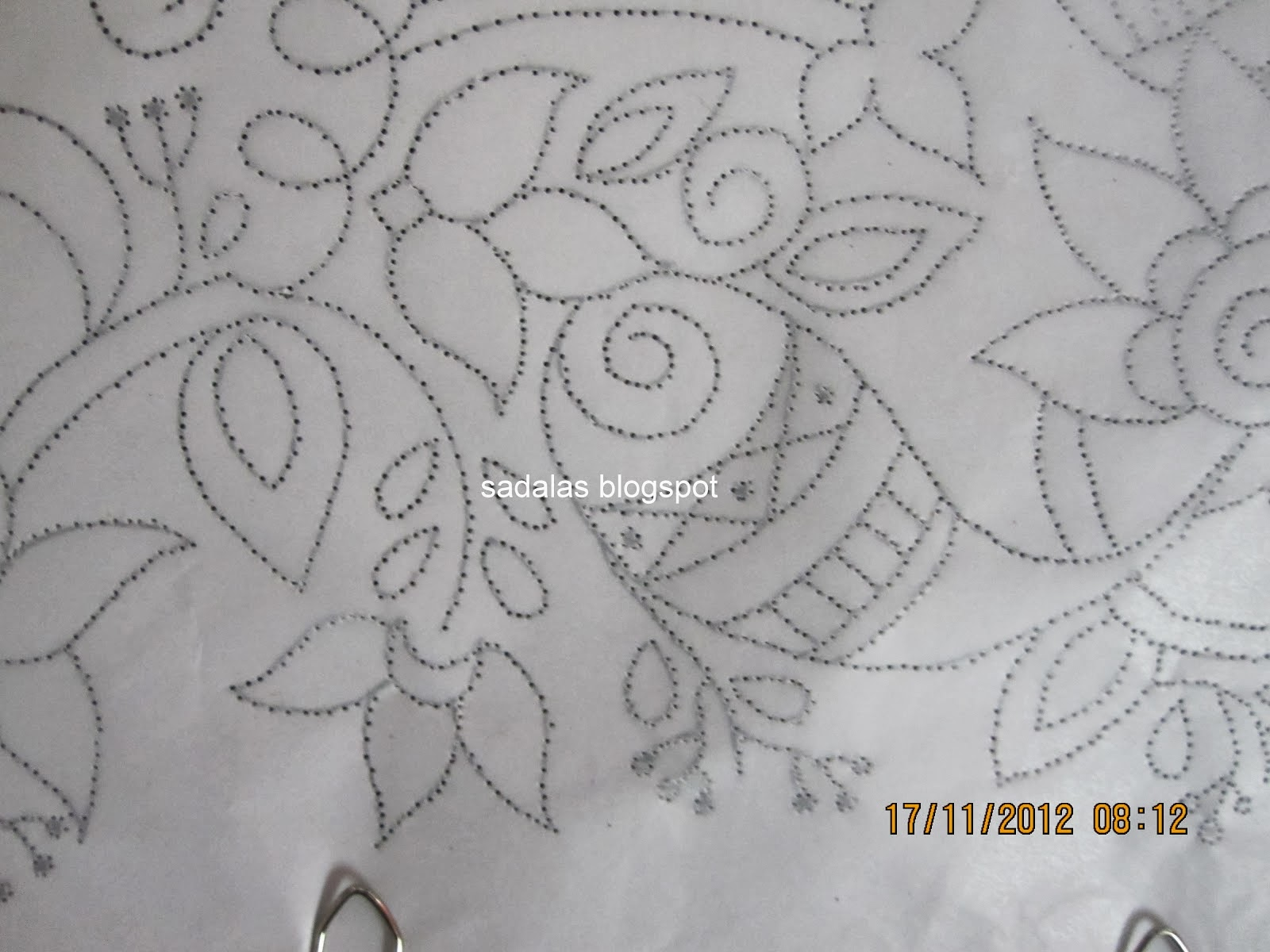 Sadala s embroidery tutorial transferring the design to