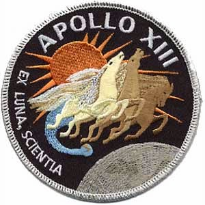 """Apollo XIII mission patch, """"From the Stars, Knowledge"""""""