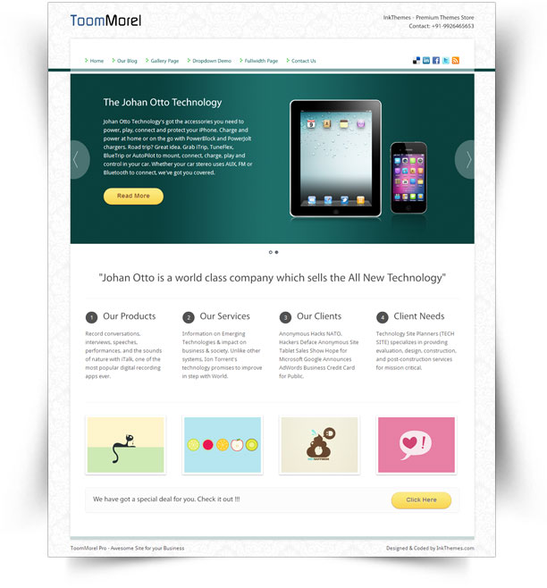 ToomMorel - Premium WordPress Theme Free Download by InkThemes.