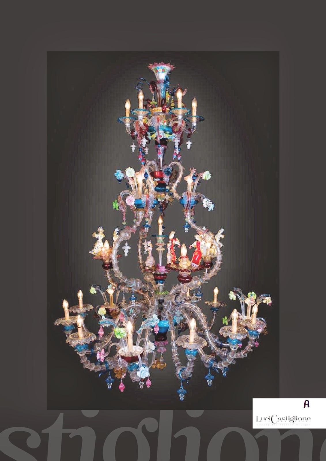 Lucicastiglione fabbrica lampadari: Lampadari di grandi dimensioni