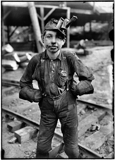 A young mine worker in West Virginia, 1908. By Lewis Wickes Hine
