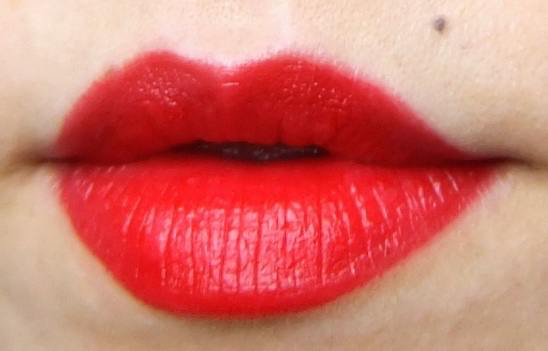 MAC Ruby Woo Lipstick swatch